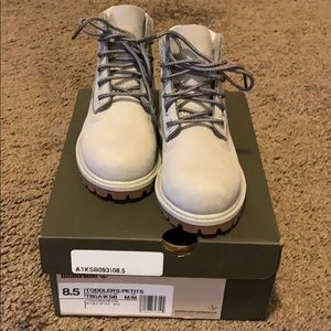 Toddler Boy Size 8.5 Grey Timberland Boots
